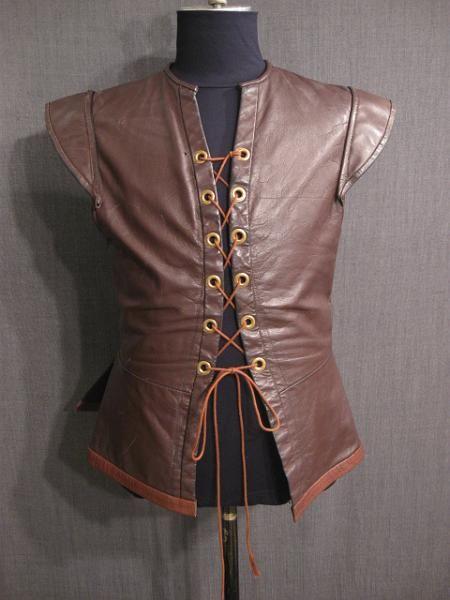 09006794 Doublet Mens Renaissance brown leather C42 44.JPG