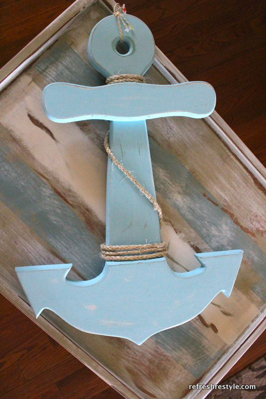 Re-doing a sign from Goodwill -- this would be fun to make for nautical decor