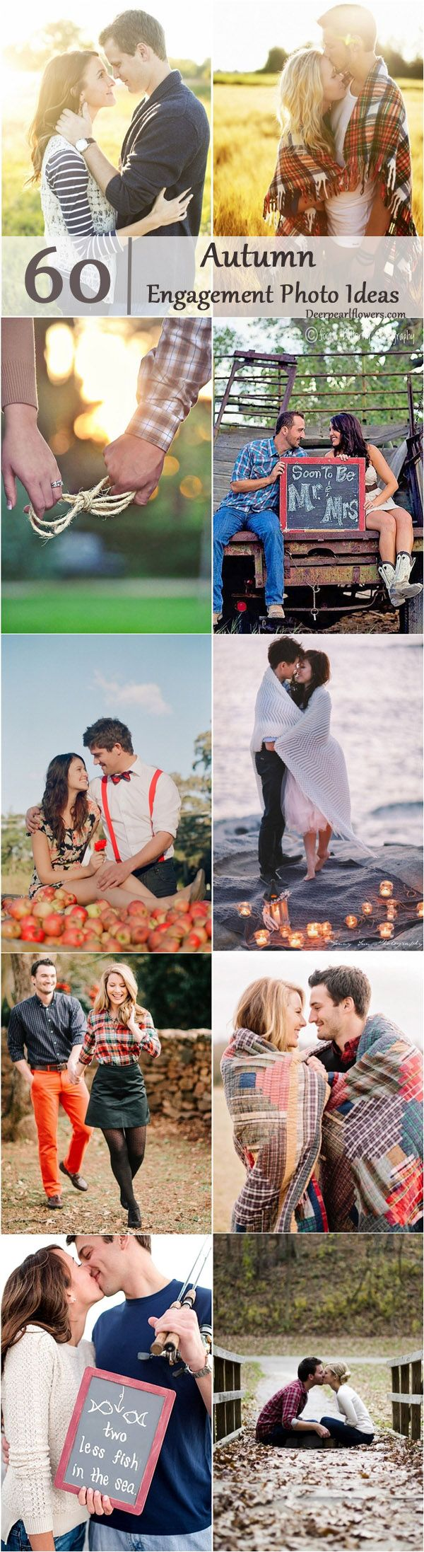 Autumn wedding ideas- fall engagement photo ideas / http://www.deerpearlflowers.com/fall-engagement-photo-ideas/2/