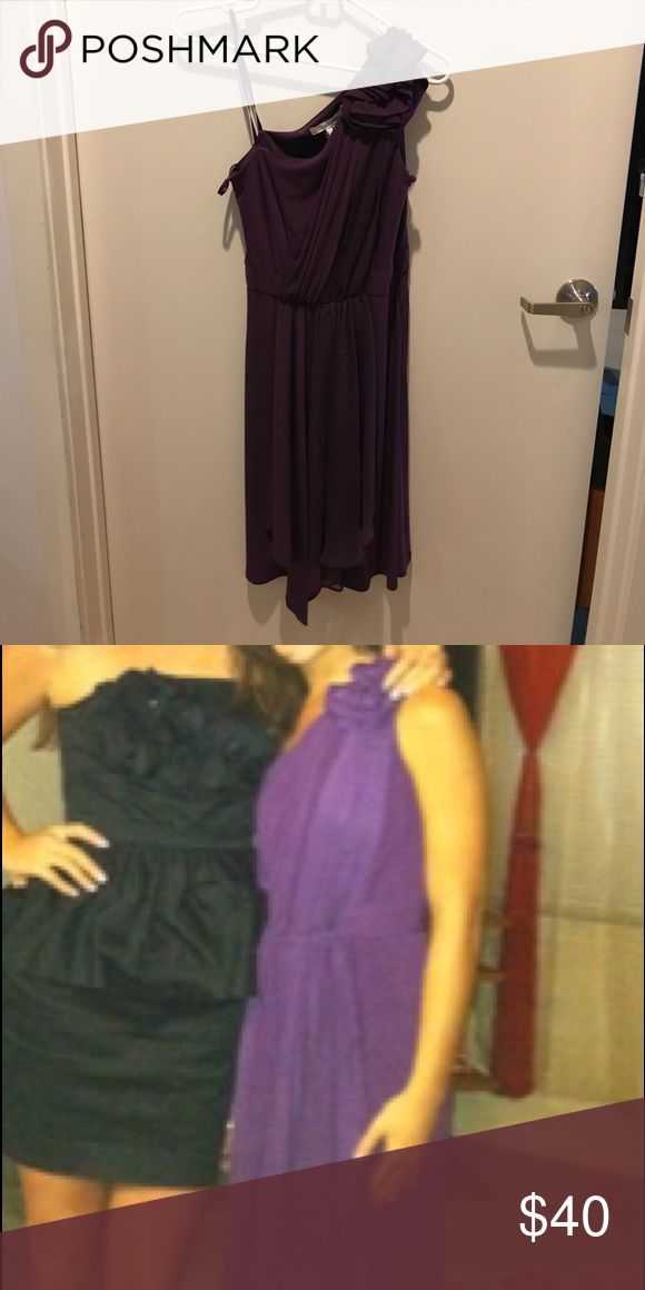 Purple formal dress One shoulder purple formal dress. Great for weddings and other formal events. Great condition Max & Cleo Dresses One Shoulder