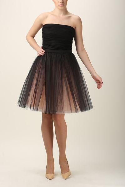 Tulle skirt  S031 champagne-black van Fanfaronada op DaWanda.com