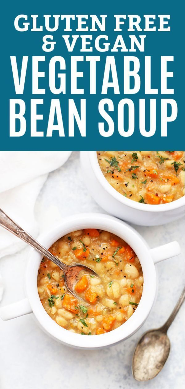 Slow Cooker Vegetable Bean Soup Gluten Free Vegan Recipe Vegetarian Slow Cooker Recipes Soup Recipes Slow Cooker Slow Cooker Vegetarian