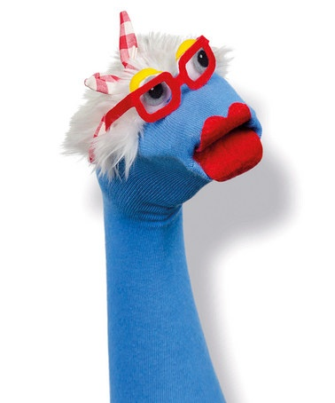Puppets for Children's Church! Too Cute! Blue Martha Sok by Sokkiez on #zulily today!