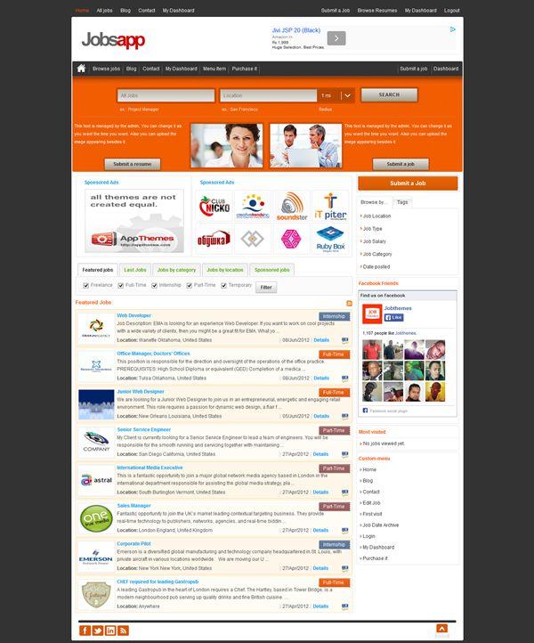 15 Premium and Free Job Portal #Themes for #WordPress