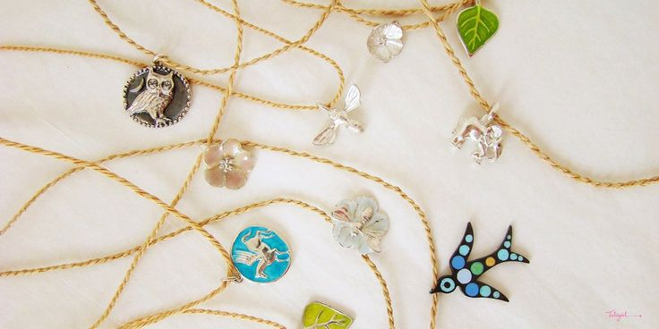 Talisgirl Charms special natural fibre handmade cord necklaces for sterling silver special charm gifts