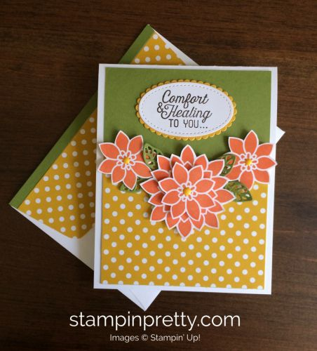 Flourishing Phrases & Flourish Thinlits Dies get well card.  Mary Fish, Stampin' Up! Demonstrator.  1000+ StampinUp & SUO card ideas.  Read more https://stampinpretty.com/2017/04/inspired-by-color-get-well-card.html