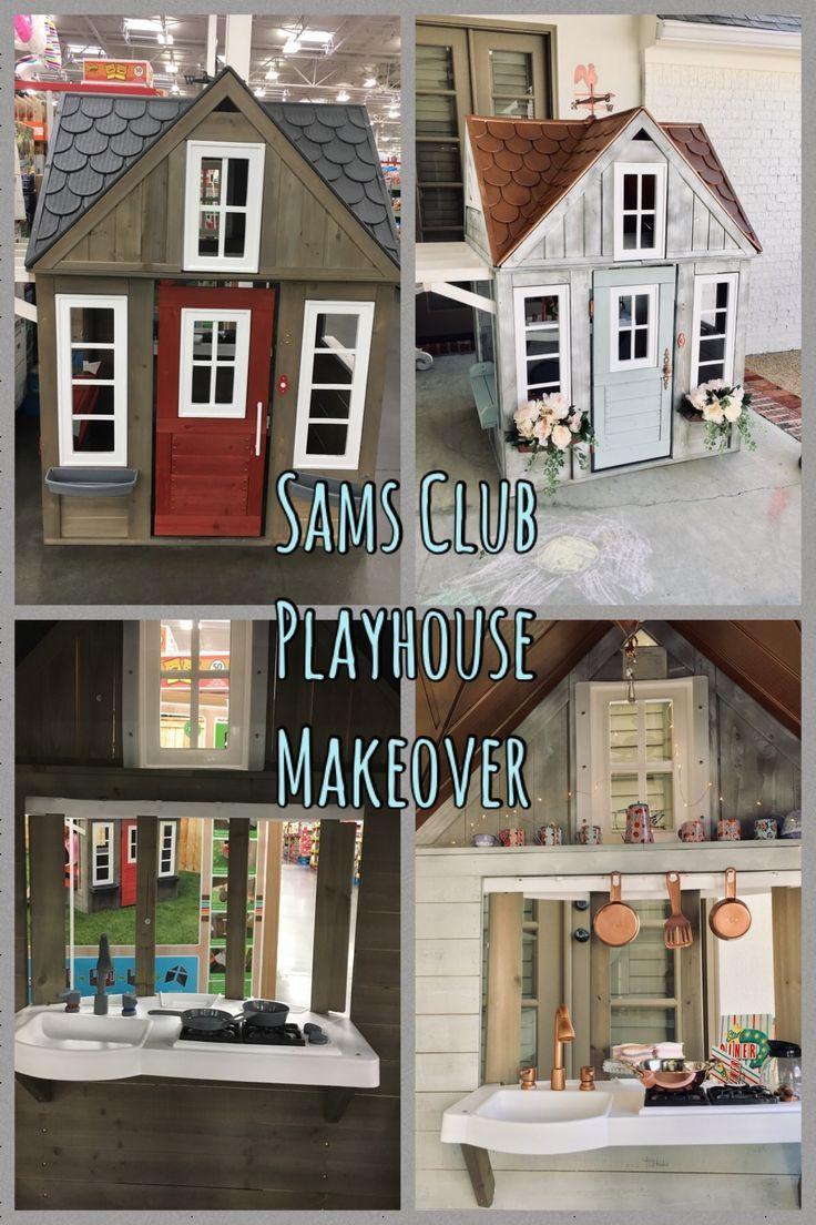 Sams Club Playhouse 299 Makeover Play Houses Backyard Playhouse Outdoor