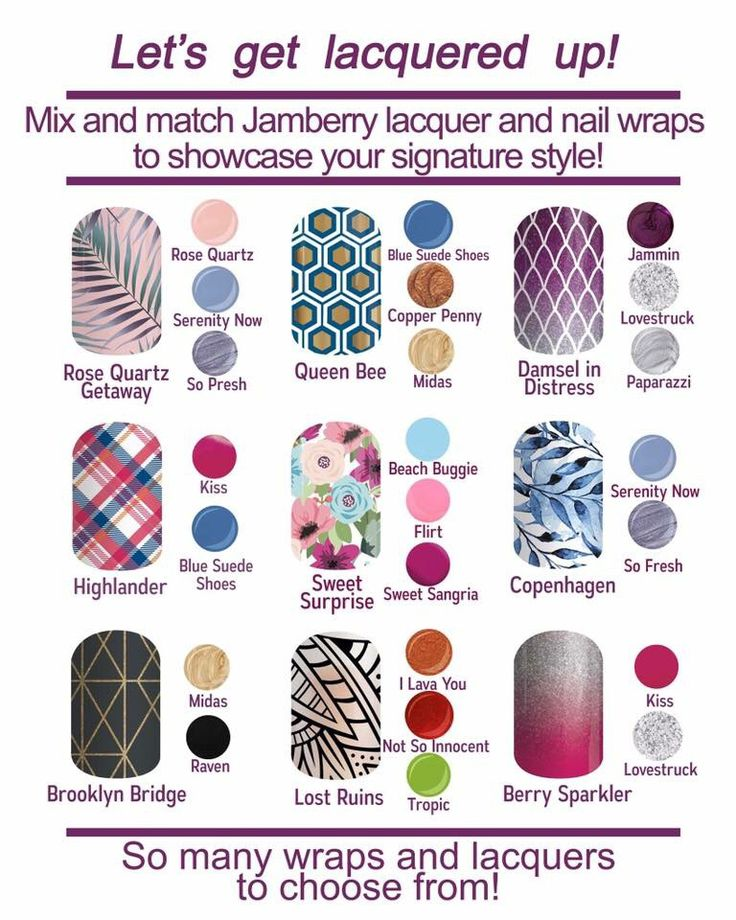 Mix and match your Jamberry wraps with lacquer or TrūShine gel enamel. http://kimd.jamberry.ca/