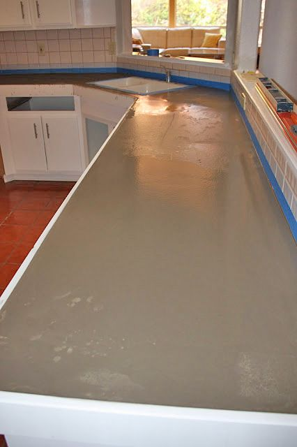 One Day Kitchen Updates. Concrete Kitchen CountertopsPoured ...