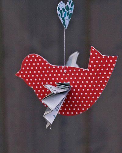 Geldgeschenke Vogelmobile - money gift as wings