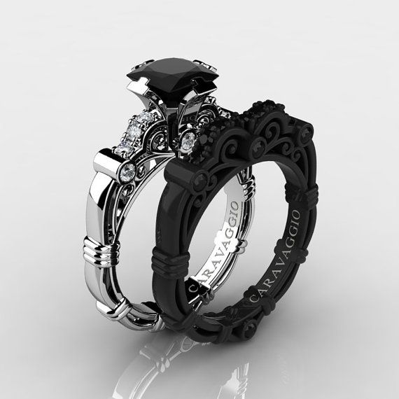 Caravaggio 14K Black and White Gold 1.25 Ct by DavidKDesigns