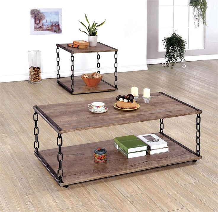 Cheyanne Coffee Table Set # chain link design & 10 best Coffee Table - End Table - Sofa Table images on Pinterest ...