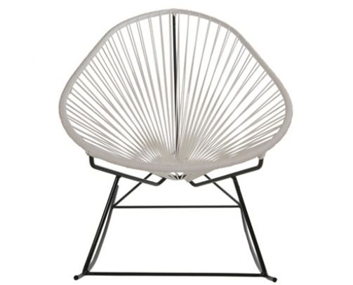 Acapulco Baby Rocking Chairs In Steel Frame And Cord
