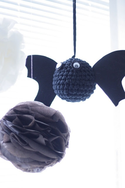The crochet halloween bat.