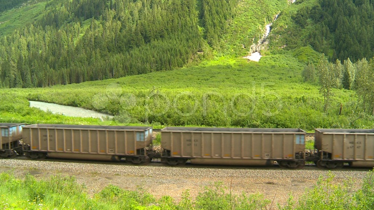 HD - $85 - railroad, Coal train wide shot with midtrain locomotive - Stock Footage | by Stockshooter