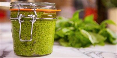 Try this Pesto with Pecorino recipe by Chef Michela Chiappa . This recipe is from the show Michela's Tuscan Kitchen.