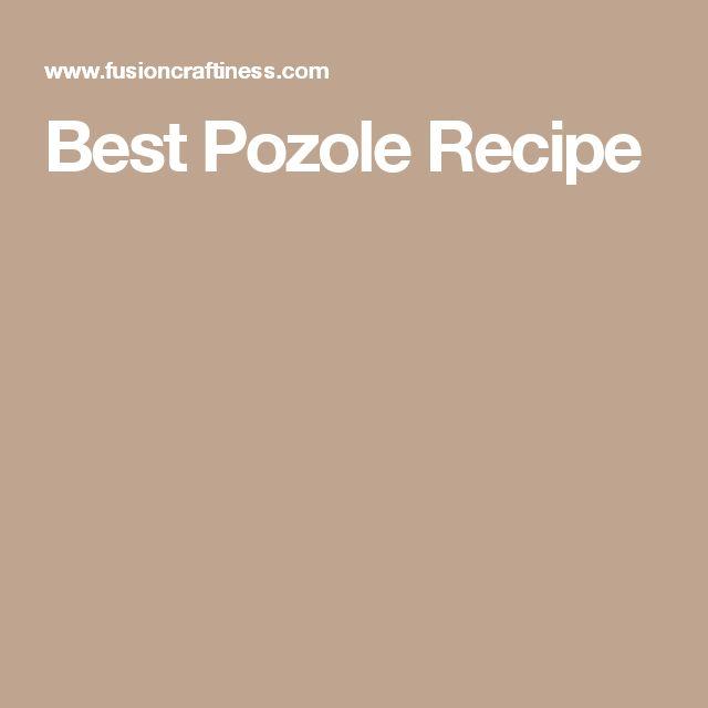 Best Pozole Recipe