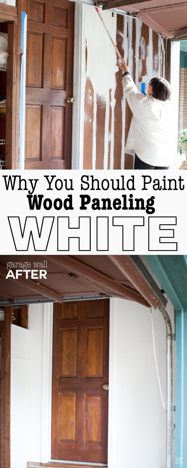 Learn the one thing that you need to do to successfully paint over wood paneling. | In My Own Style