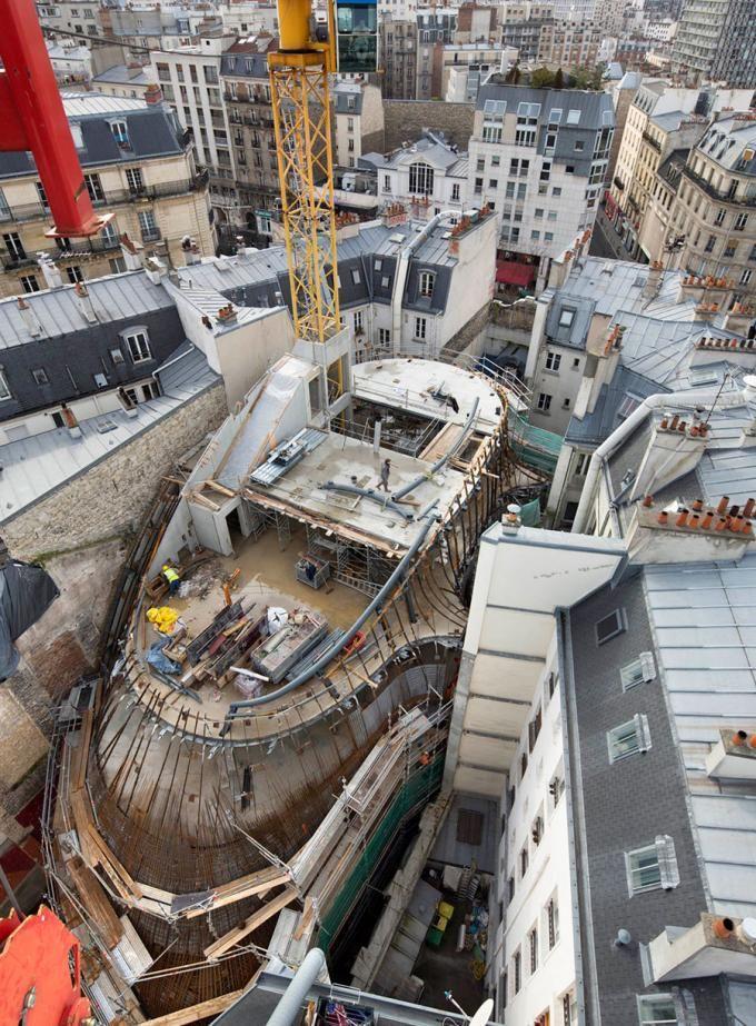 Construction process. Fondation Jérôme Seydoux-Pathé Foundation at Paris, by Renzo Piano. Photography © Michel Denancé. Courtesy of Renzo Piano Building Workshop.