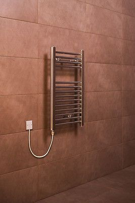 Electric Heated Towel Rail Warmer Radiator - Chrome - 700 x 400 - 150W Manual in Home, Furniture & DIY, Bath, Towel Rails | eBay