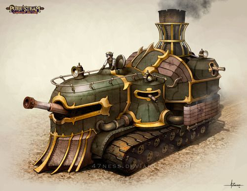 PURE STEAM - Steam Tank by *47ness #Steampunk #steampunkart…