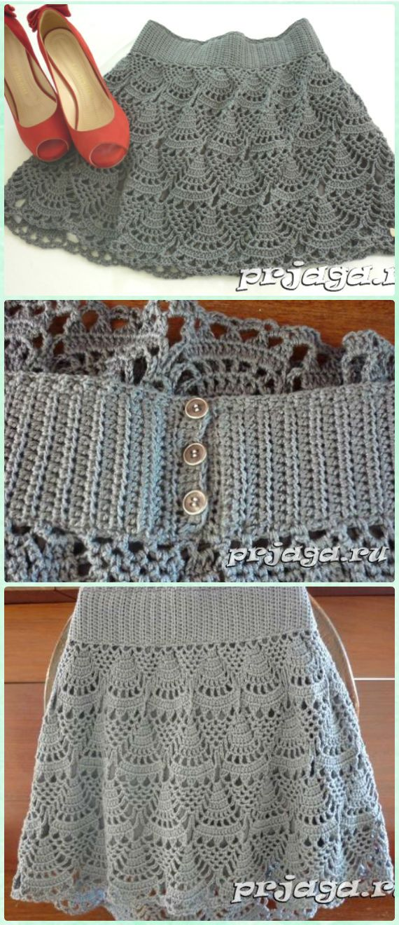 Crochet Short Skirt Free Pattern- Crochet Women Skirt Free Patterns