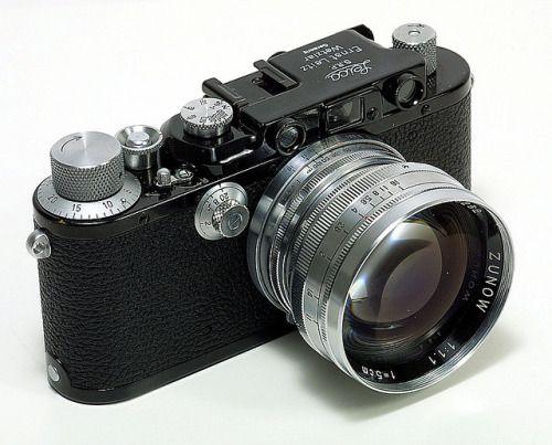 Zunow 5cm 1.1 lens on a beautiful black Leica IIIa by M Gay ...