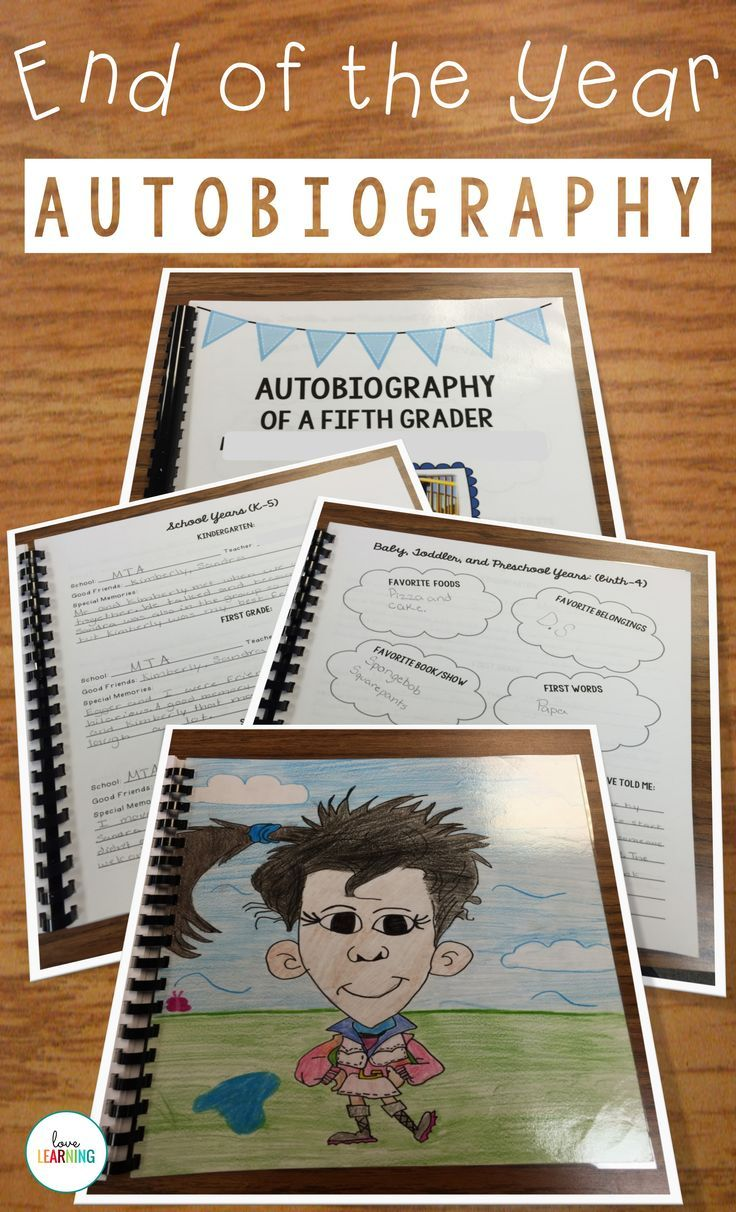 best ideas about autobiography writing autobiography of a fifth grader a memory book project