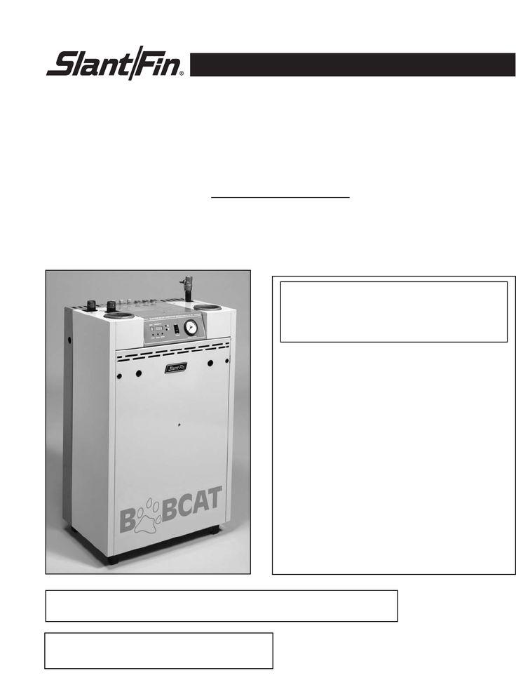 Slant/Fin Boiler B-120A User's Guide | ManualsOnline.com