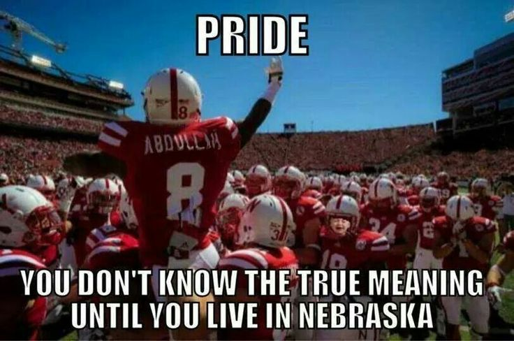 No really. Most teams like hate eachother and like fight and stuff, but when teams come and play at Nebraska they stand outside their locker room and clap whether they win or loose