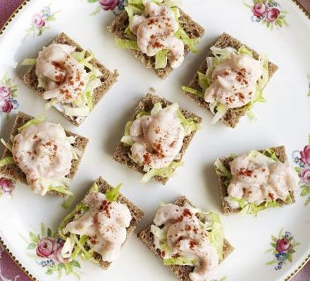 Prawn cocktail squares! Banish the glassware and serve your prawn cocktails in one stylish, bite-size go