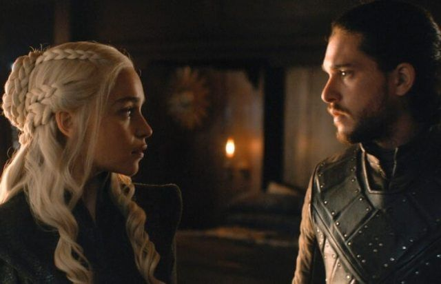 Game of Thrones Jon Snow e Daenerys