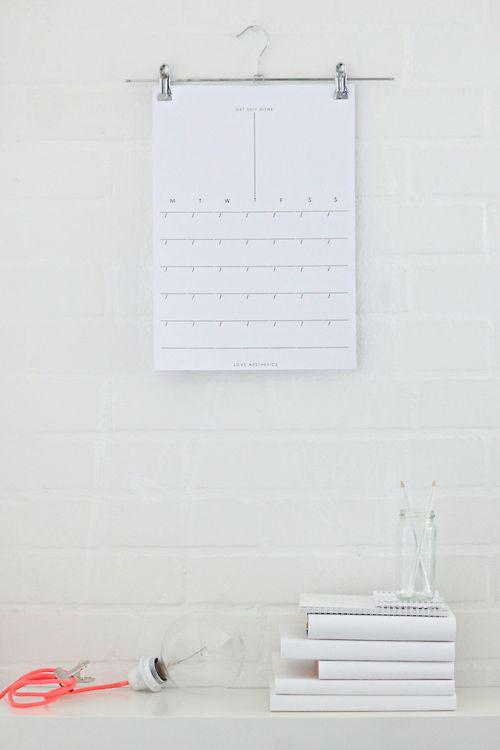 Diy Calendar Hanger : Best office calendar ideas on pinterest wall