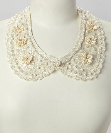 #zulily! Ivory Lace Flower Collar Necklace by Deep or Shallow #zulilyfinds