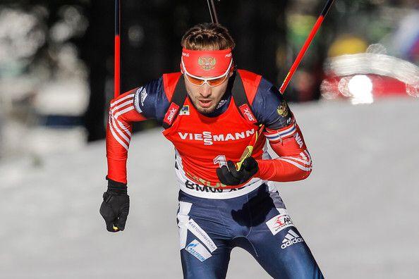 Anton Shipulin in Men's Pursuit in Pokljuka 2014.