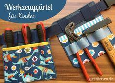Nähen für Kinder | Werkzeuggürtel für einen kleinen Handwerker | greenfietsen | Bloglovin'