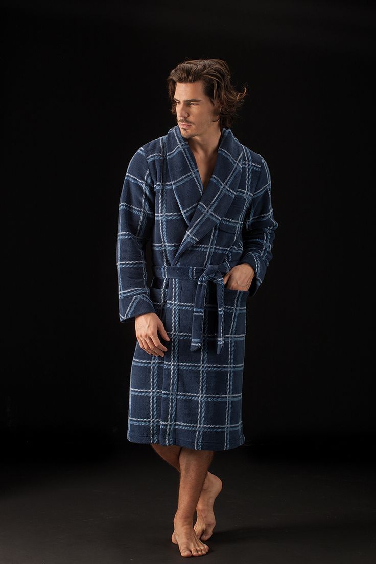 Bata warm de cuadros de Soy Sleep&Homewear Collection