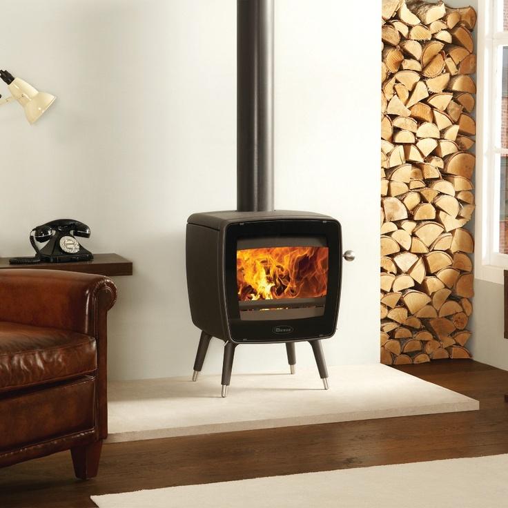 Dovre Vintage 35 woodburning stove, Anthracite finish.