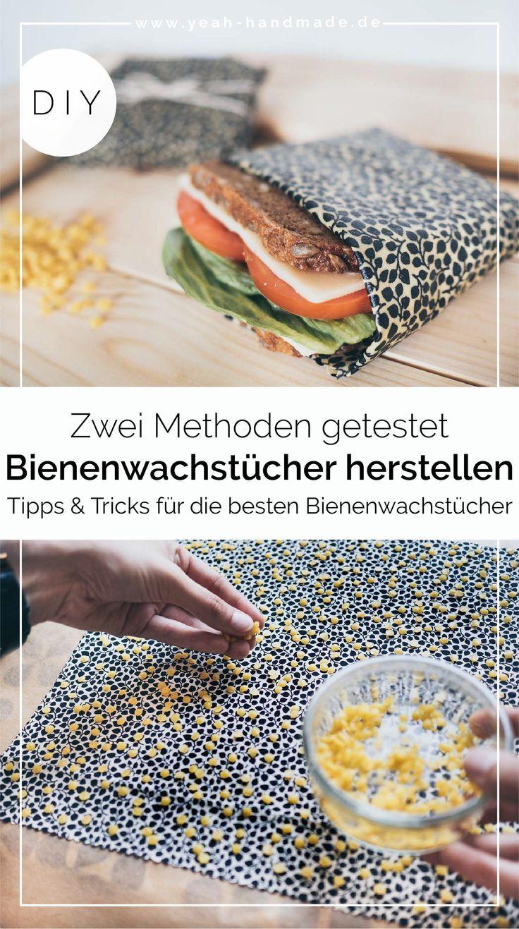 DIY Bienenwachstücher selber machen – zwei Methoden • Yeah Handmade  # Nachhaltig leben: DIY-plastikfreie Alltagshelfer