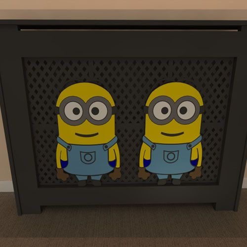 Themed radiator covers available painted or unpainted - purchase unpainted and let your children help you paint - Add your own personal touch www.bdichildrensfurniture.co.uk