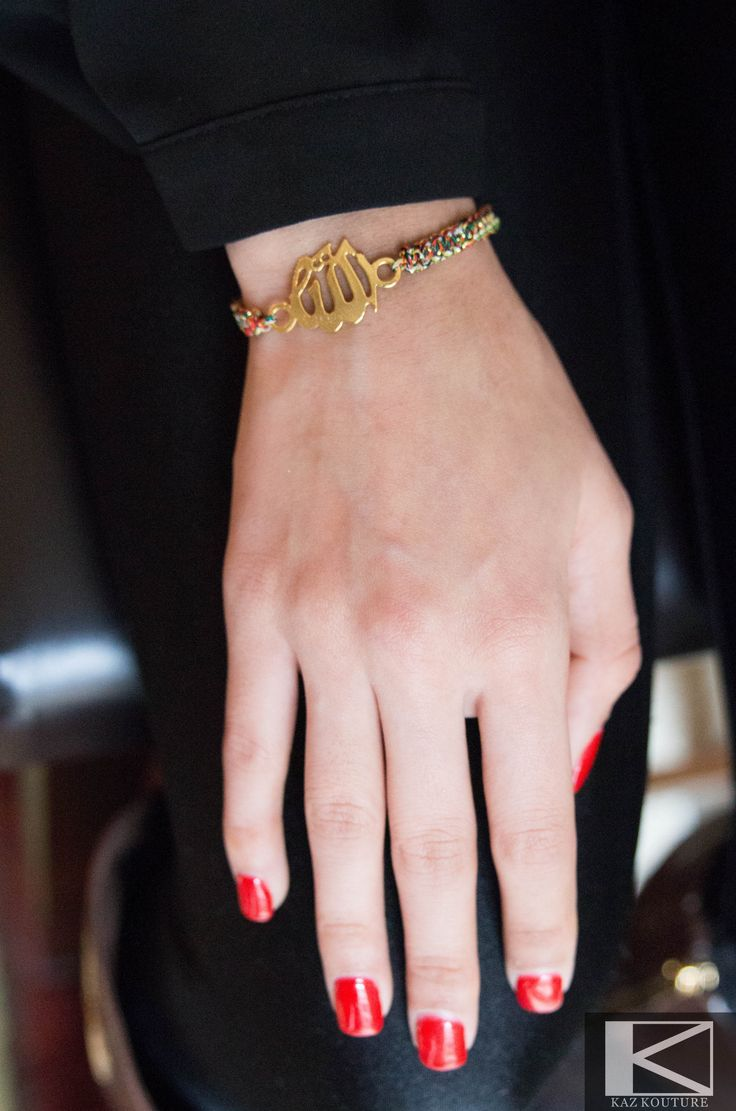 KAZ KOUTURE: Allah Chord Muli-Color Bracelet --Simple yet Elegant!