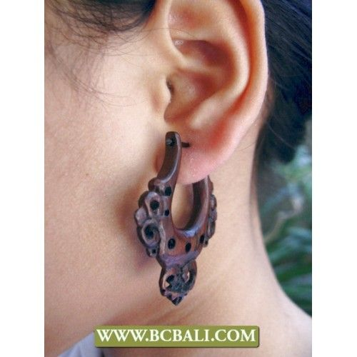 Woods Sono Earring Fashion Carving - sono earring fashion carving woods, wholesale jewellry from bali indonesia, supplier woods earring carving from bali indonesia