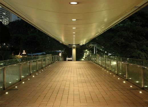 Romantic walkway with led indoor outdoor in ground torcia accent lights
