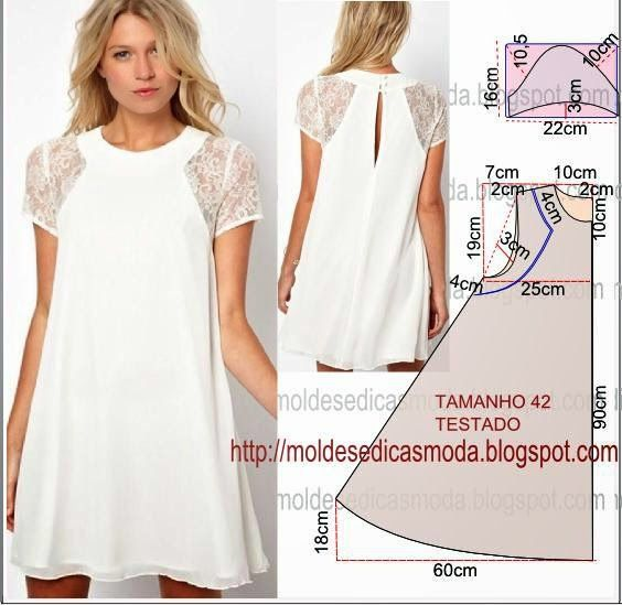Short dress, pattern instructions
