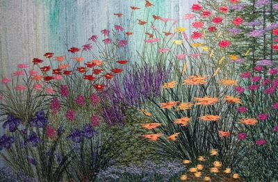 PORTFOLIO 1: Stitched Impressions - Susan Levi-Goerlich:Paintings in Fiber
