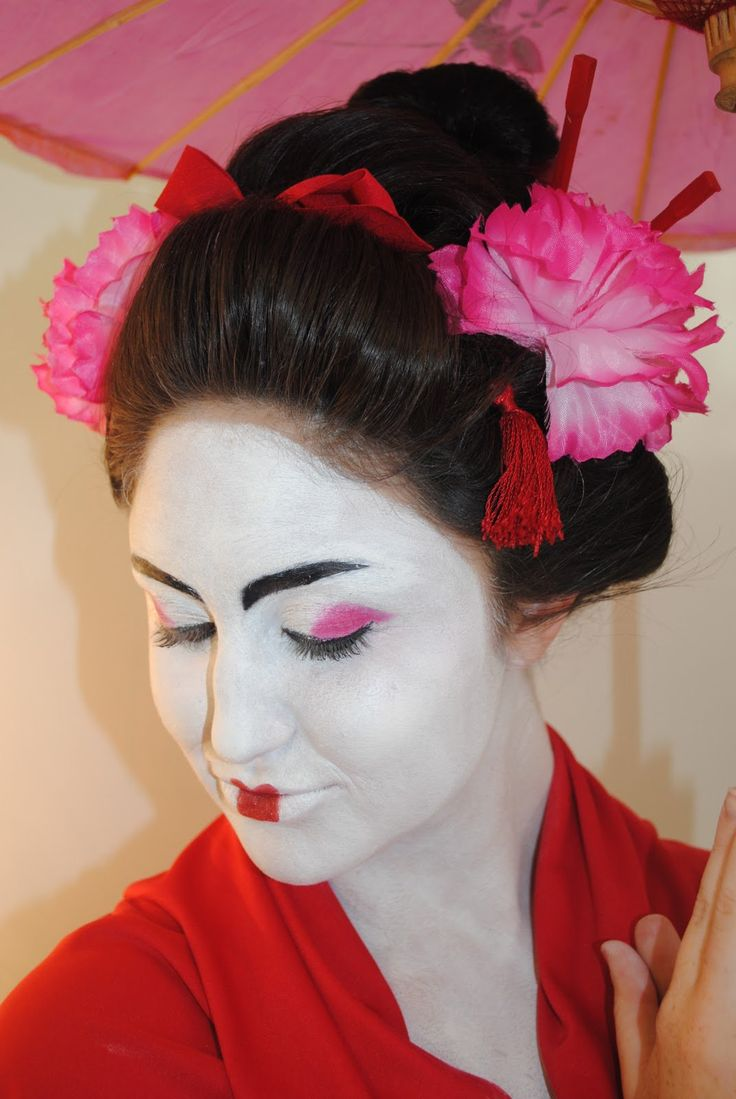 gelled hairstyles : geisha hair geisha makeup hair makeup hair images japanese costume ...