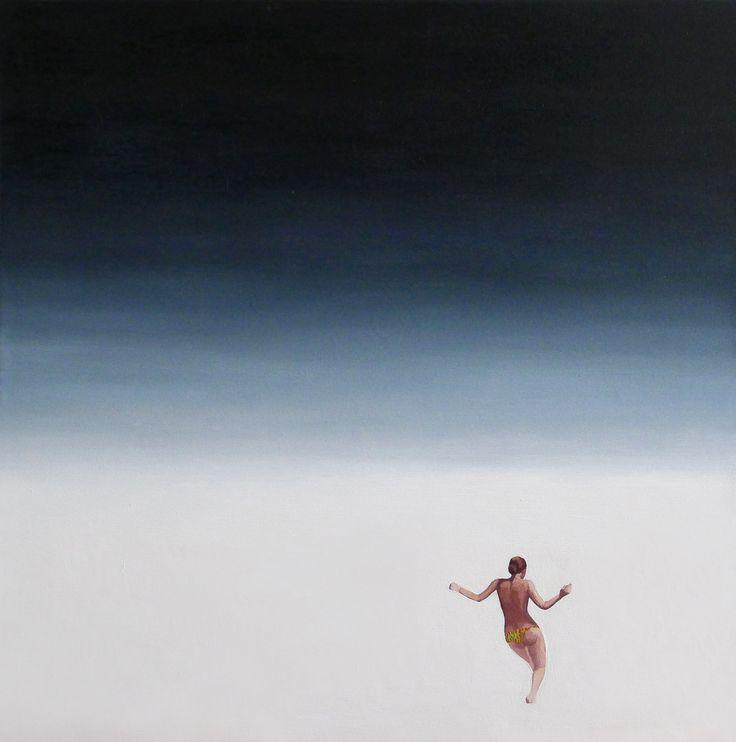 Fala II, 2013, olej na płótnie, 50x50cm