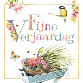 Marjolein Bastin kaart - tafel-met-mandje-bloemen