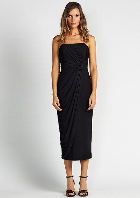 Very Very - Angela Black Mesh Dress