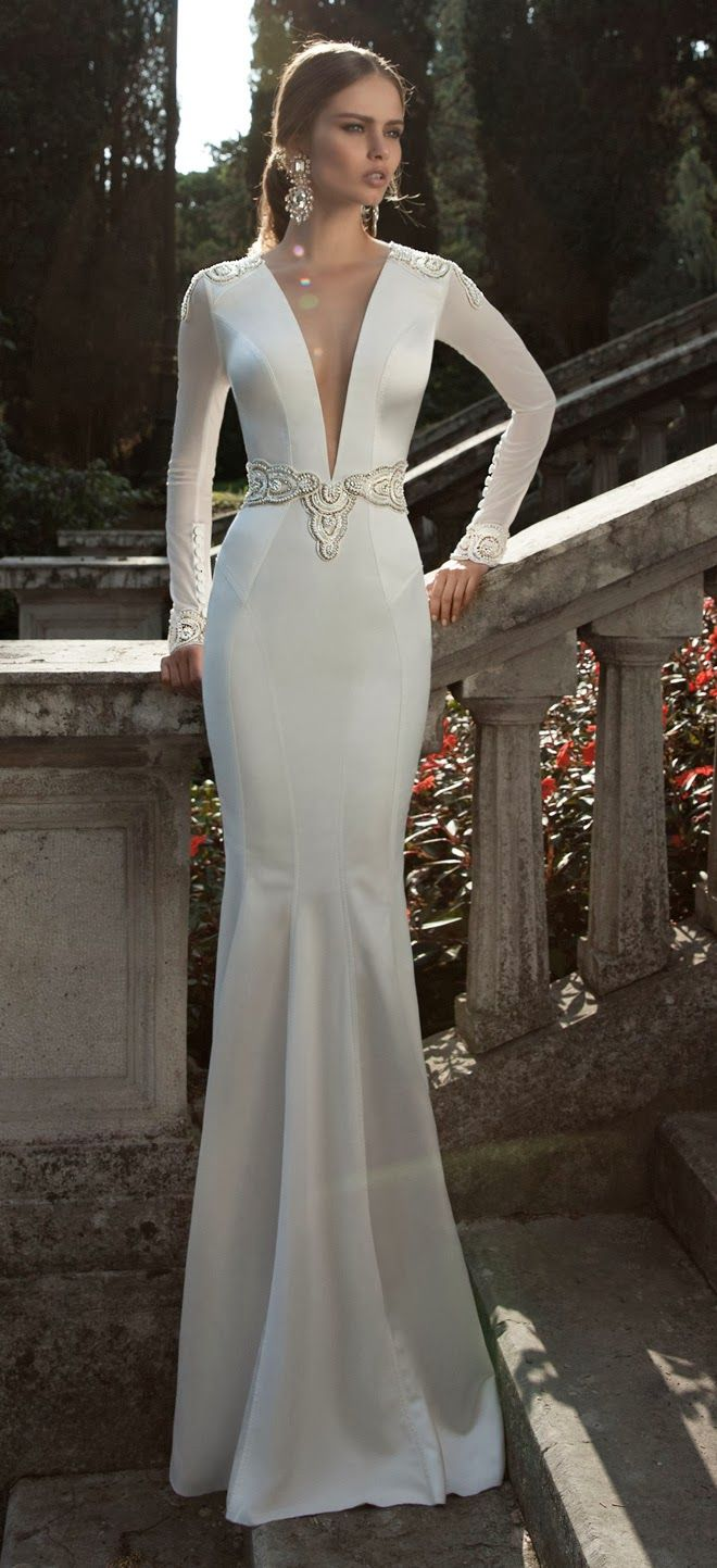 Sexy Berta Wedding Dresses 2014. To see more: http://www.modwedding.com/2014/05/25/sexy-berta-wedding-dresses-2014-part-2/ #weddings #wedding #weddingdress #fashion